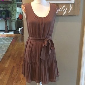 Altar'd State Taupe Pleated Dress